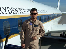avionics tech in flight suit