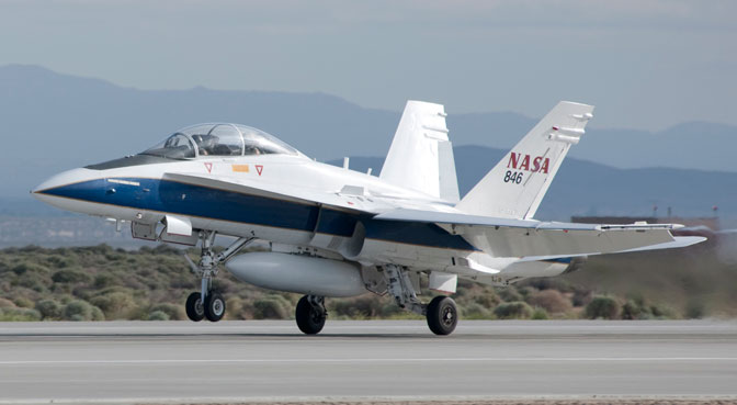 F/A-18 Hornet taking off from Dryden