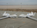 NASA's Global Hawks on the aircraft ramp at NASA Dryden Flight Research Center