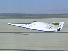 X-24B landing at Edwards
