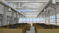 A light and airy office environment will be featured in the new Facilities Support Center to be built at NASA's Dryden Flight Research Center at Edwards.