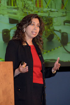 JPL systems engineer Nagin Cox of the Mars Science Lab operations team