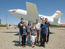 Students in front of X-1E aircraft at DFRC.