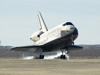 Space Shuttle Endeavour touches down at Edwards Air Force Base Nov. 30, 2008 to conclude mission STS-126 to the International Space Station.