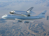 The Space Shuttle Endeavour mounted atop a modified Boeing 747 carrier aircraft flies over California's Mojave Desert on the first leg of its ferry flight back to the Kennedy Space Center on Dec. 10, 2008 after landing at Edwards Air Force Base to conclude shuttle mission STS-126. Endeavour will be