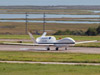 A NASA Global Hawk lands at the agency's Wallops Flight Facility in Virginia Sept. 7 following an overnight mission from NASA's Dryden Flight Research Center in California. Tropical Storm Leslie in the Atlantic Ocean was the first storm imaged from the Global Hawk as part of the multi-year Hurricane