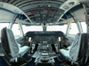 Jon Brack shot this panoramic view of the pilots' and flight engineer's stations on NASA's Shuttle Carrier Aircraft for National Geographic.