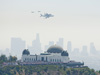 Thousands of spectators gathered at Griffith Observatory in Griffith Park to catch a glimpse of space shuttle Endeavour atop its 747 carrier aircraft.