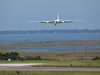 NASA's ER-2 lands at the agencys Wallops Flight Facility in Wallops, Va., during its development flights for two future satellite instruments