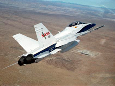 F-18 in flight