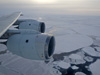 DC-8 over Weddell Sea-high