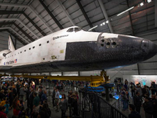 Space Shuttle Endeavour, at the California Science Center.