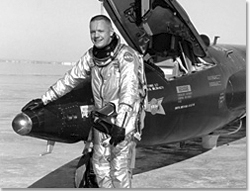 Research pilot Neil Armstrong with X-15