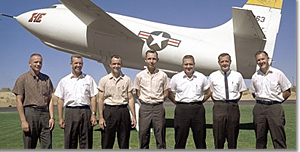 Armstrong in 1962 with fellow NASA Dryden research pilots