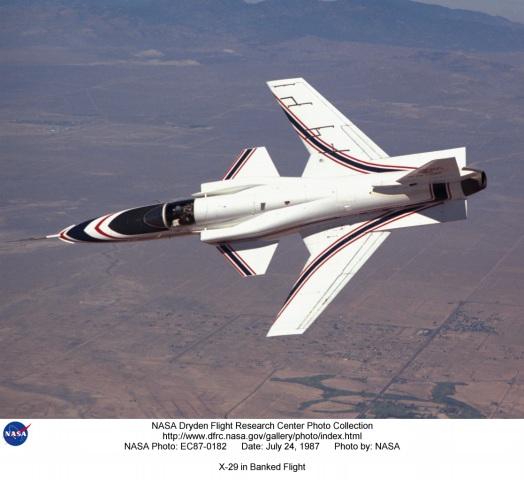 NASA - X-29 in flight