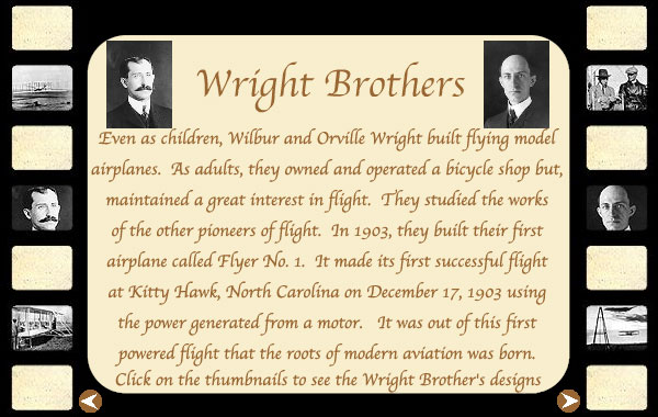 wright brother research paper The 19th and 20 centuries witnessed sustained efforts to design and develop flight human beings were realizing the increasing need for flight to facilitate.
