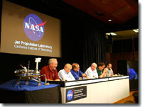 Picture of Mars Rover team during a press confrence