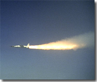 Modified Pegasus rocket ignites moments after release
