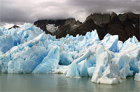 photo: Chile's Glacier Grey from Lago Grey (Grey Lake).