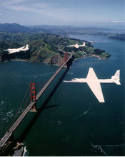 ER-2s over Golden Gate Bridge