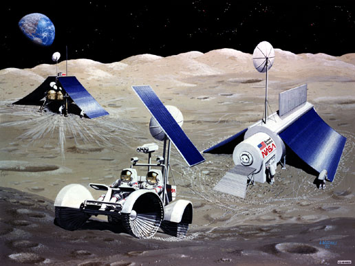 Nasa Solar Power For Lunar Living