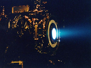 Photograph: Xenon ion discharge