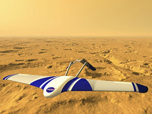 Artist's concept of Mars airplane