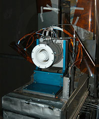 Image of the prototype high voltage Hall accelerator.