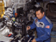 Astronaut studies colloids in space