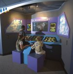 Image of the 'The Wonders of Flight' exhibit at the NASA Glenn Visitor Center.