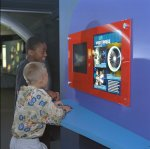 Image of the 'Seeking Solutions' exhibit at the NASA Glenn Visitor Center.
