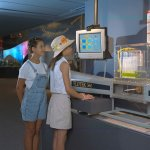Image of the interactive wind tunnel exhibit at the NASA Glenn Visitor Center.