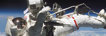 Image of an astronaut on a space walk.