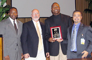 Image of Mead, Dr. Whitlow, Hinshaw and Romero.