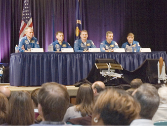 Image of the STS-115 crew.  Credit:  Marvin Smith RSIS/NASA.