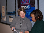 NSSC Customer Liaison Diane Duly with Bonnie Hassel.