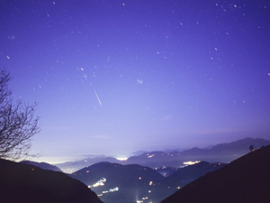 Image of a meteor shower.