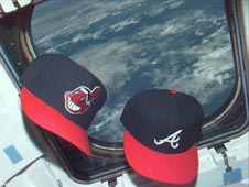 Cleveland and Atlanta Baseball caps