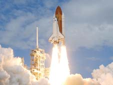 Photo of shuttle launch