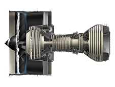 GEnx engine.