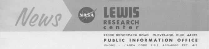 NASA Lewis Research Center press release header