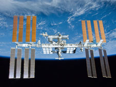 The International Space Station photographed by an STS–132 crew member on the