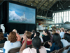 NASA Glenn employees gathered at Lewis Field Hangar to watch launch of final Space Shuttle launch