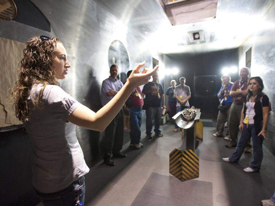nasa social participants in wind tunnel