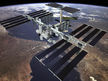Image of the International Space Station.