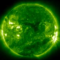 SOHO full disk view of flares
