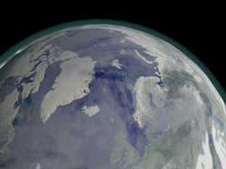 Swirling stratospheric winds around the North and South Pole in winter, called the polar vortex, play a key role in the formation of the Earth's ozone hole.