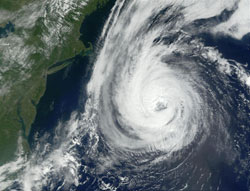 Satellite photo of Hurricane Erin