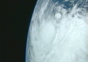 Image of Tropical Storm Arlene taken by the astronauts on the International Space Station.