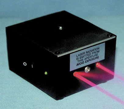 The Laser Scaling Device attaches directly to a camera, enabling the viewer to measure the size of the object.